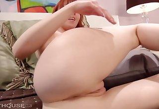 Marie Mccray is a sexy redhead masturbating