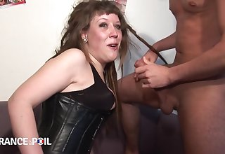 La France A Poil - Slutty Brunette Sucks Two Cocks At O