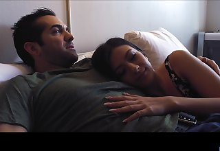 After being fingered kinky Natalie Brooks is watchful of upper case dude a BJ