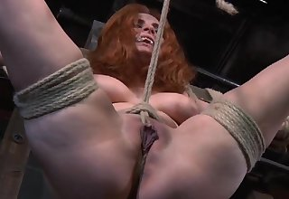 Redhead mature Ashlee Graham directed up plus tortured by a pervert