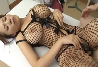 Japanese nurse Ruri Saijou spreads her legs to ride her patient