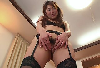 Japanese MILF creamed stub a nasty fuck into her hairy carry off