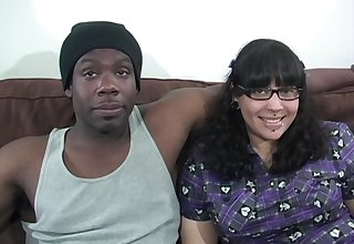 Busty plumper gets dicked down by a chunky black cock