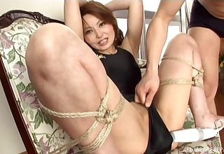 Kinky Japanese wife loves being tied up and pleasured with toys