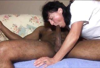 Cougar Loves BIG BLACK PENIS rough sex