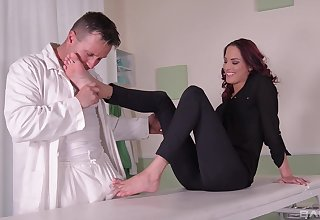 Serious foot fetish display leads this wed in insane orgasms