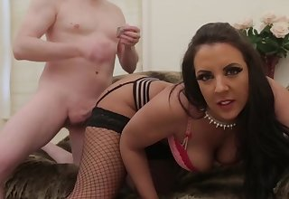 Authentic brunette Lucy Devine shows off her magnificent fuckability