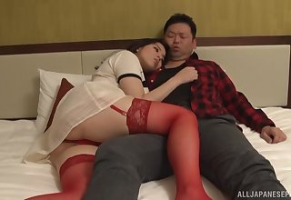 Foxy Japanese wife Mishima Natsuko in overheated lingerie obtaining fucked