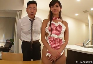Creampie ending after passionate fucking with adorable Aso Nozomi