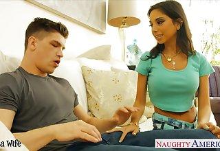 Slutty nextdoor girl seduces spoken for guy concerning a huge cock