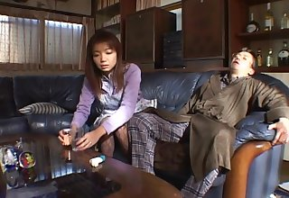 Amateur fucking at home with a cock hungry Japanese housewife
