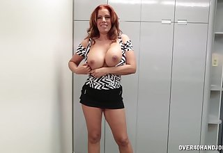 Gagged mature wants some brand-new sperm on those freckled tits