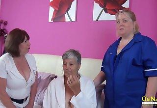 Bosomy British Mature Lesbian Triptych Scurrility