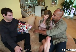 Cuckold husband watches to the fullest sexy Chloe Chaos gets fucked by a BBC