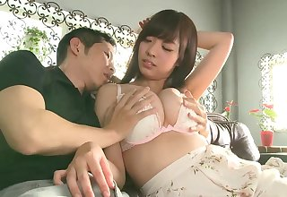 Japanese with chubby tits, first creampie on cam