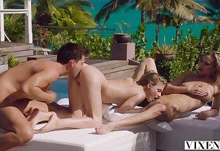 VIXEN FFM Pounding less Paradise - 2 Avidity Babes for 1 D