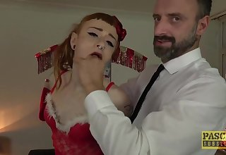 Submissive Skinny UK Sub Azura Alii Anal Fucked Hard - British kinky slut