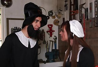 Horny chick Alice Lighthouse drops her maids uniform to ride a gumshoe