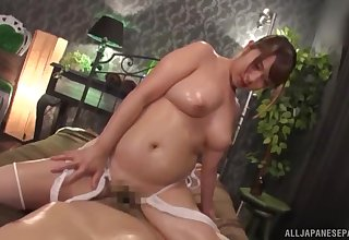 Nude busty Asian main gets will not hear of dose in POV