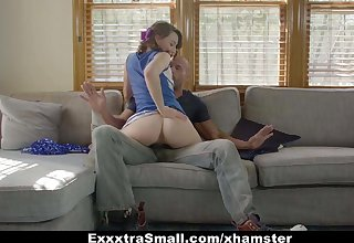 ExxxtraSmall - Tiny Cheerleader Stretched And Fucked