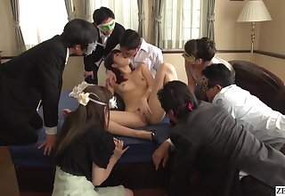 JAV Miki Sunohara blowjob together with rimjob while turnout watches