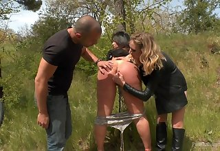 Kinky Klara Aureate wants to get punished by her horny friends