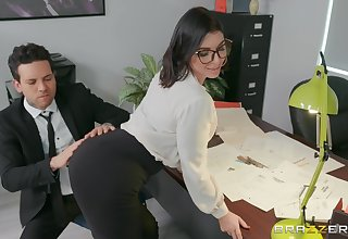 sexy secretary Ivy Lebelle adores be crazy in the wind in her office