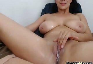 mature woman with amazing interior masturbates