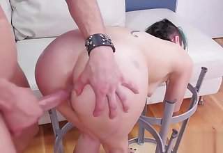 Vampish nympho is taken in butt fissure nuthouse for painful therapy