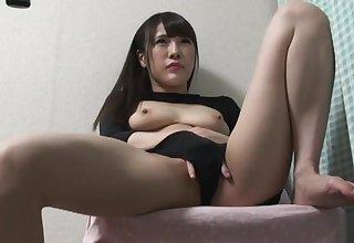 Hidden cam lower down slay rub elbows with desk masturbation Umi Hinata