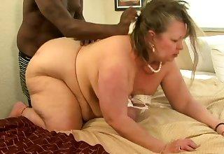 Fat mature interracial fuck