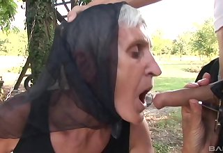 Out sex and a blowjob are amazing with horny and old mature Kata