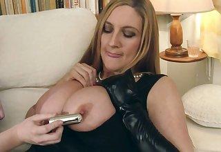 Jenny Badeau & Tasha Holz suck their OWN nipples...