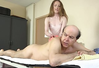 Emma lusts for experience and fucks her client at the massage parlor