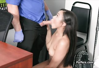 Raven blows cock on leaked office cctv video