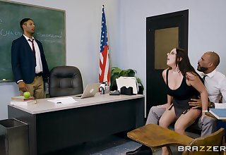 Angela White makes love with husband at a PTA meeting