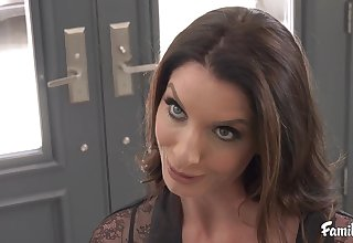 Silvia Saige - Stepmom Helps Son To Cum