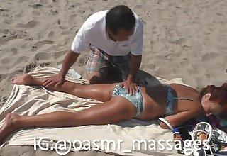 Mommy Russian Blubbery Body Beach Massage