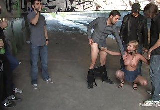 Strong display of public porn scenes with submissive whores