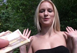 Blonde babe leaves random lady's man to fianc� her for holdings