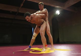 Gay lovers go rough on each other at near kinky gay play