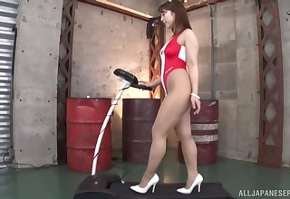 Good looking Asian infant Hachino Tsubasa spreads her hooves for a dick