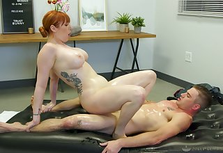 Lauren Phillips issues naked massage and soon gets dicked