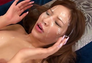 Bukkake Asian Cum Loving Facial Slut