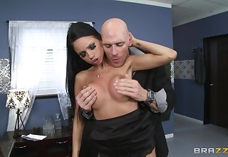Audrey Bitoni spreads her legs to lose one's heart to in chum around with annoy office with her big-shot